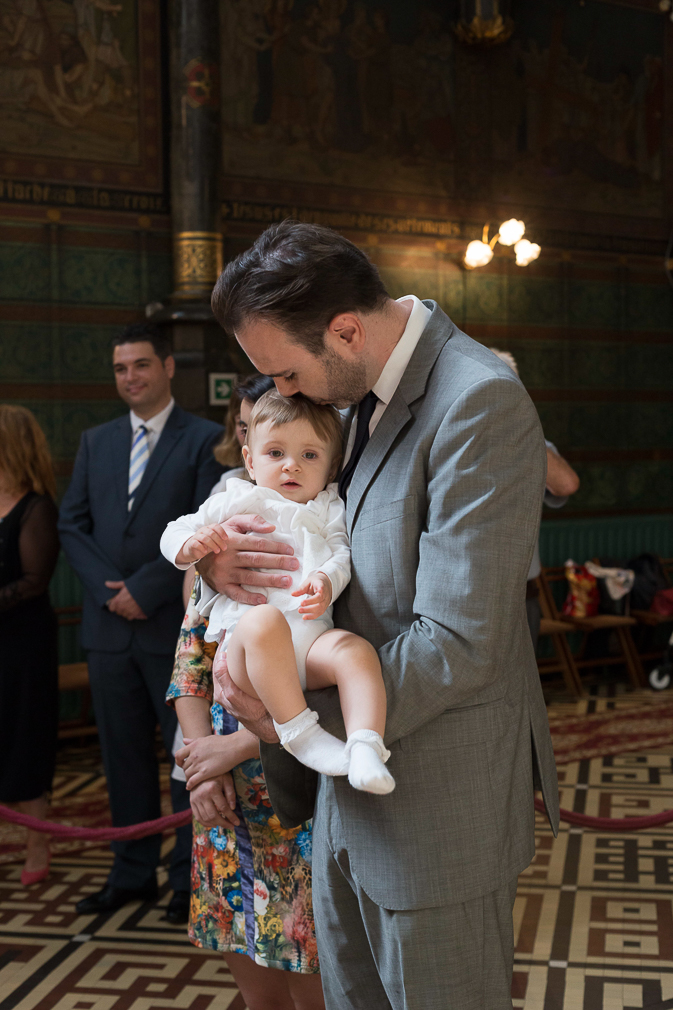 Some beautiful moments from a christening ceremony